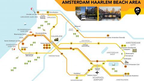 Amsterdam strand tour ticket, naar Haarlem en Zandvoort strand